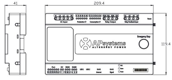 APSystems ECU-C afmetingen
