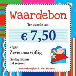 Waardebon 7.50 euro