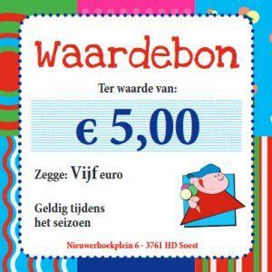 Waardebon 5 euro