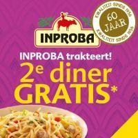 Inproba trakteert: 2e diner gratis!