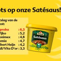 Heel trots zijn wij op onze Satésaus!