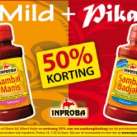 Proef Sambal Badjak en Manis met 50% korting!
