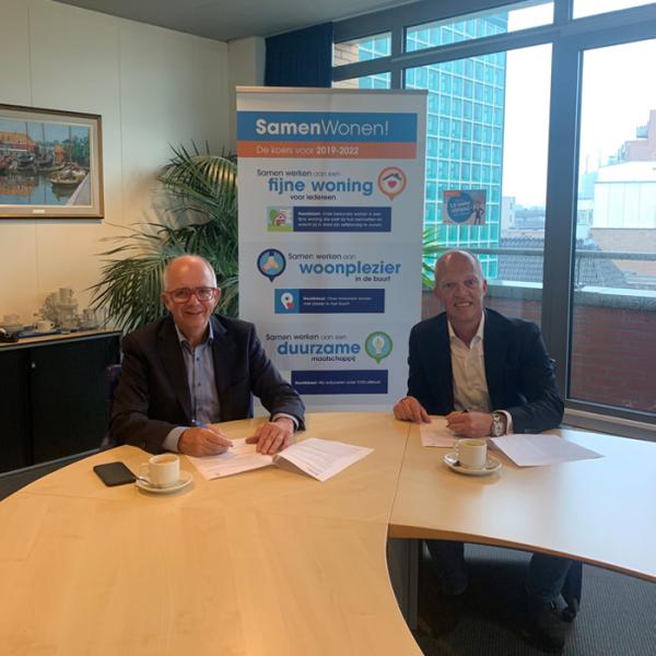 Het Gooi en Omstreken en JeeGee Vastgoed ondertekenen intentieovereenkomst voor realisatie 15 sociale huurappartementen