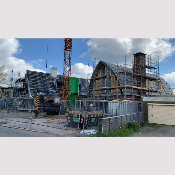 Voortgang bouw aan de Horndijk in Loosdrecht