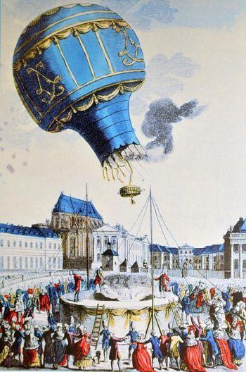 234 jaar geleden werd de eerste ballonvaart gemaakt