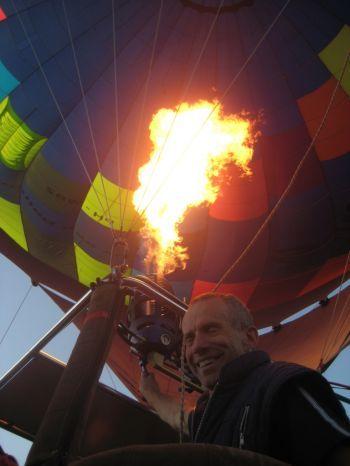 Vermogen brander luchtballon