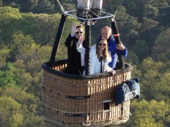 Huwelijksaanzoek luchtballonvaart