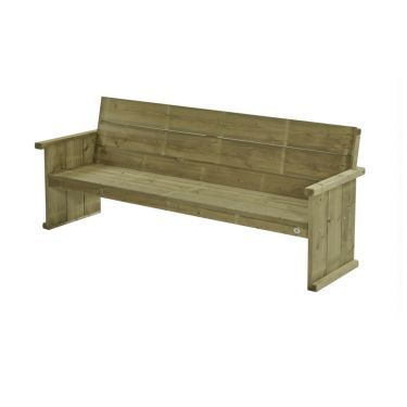 Bank Lisse 230 cm 4 zits, massief hout