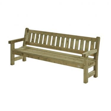 Parkbank Zeist 230 cm, 4 zits, massief hout.