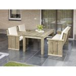 Tuinset Lisse 4-delig, massief hout, Made NL
