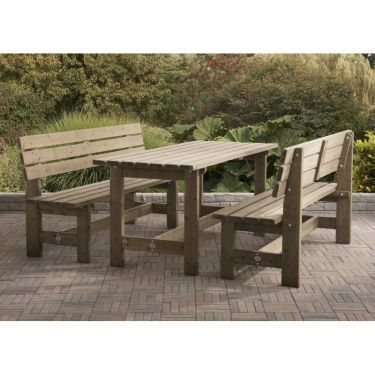 Tuinset Goes, 3-delig, massief hout
