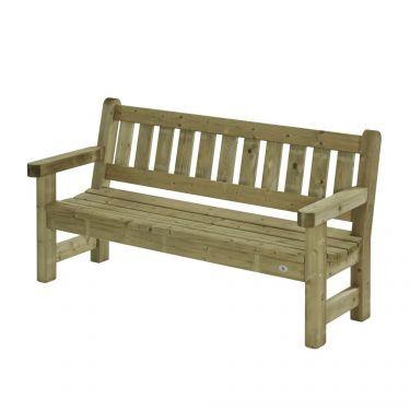 Parkbank Zeist 180 cm, 3 zits, massief hout.