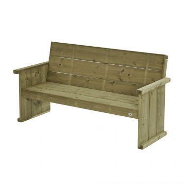 Bank Lisse 170 cm, 3 zits, massief hout.