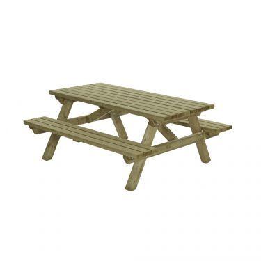 Picknicktafel recht, 160x180 cm, 45 mm dik