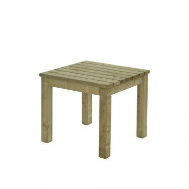 Tafel Hoorn 90x90 cm, massief hout, Made NL