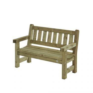 Parkbank Zeist 135 cm, 2 zits, massief hout