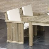 Stoel Lisse 70 cm, massief hout, Made NL