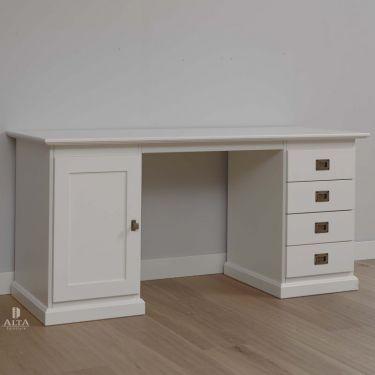 Bureau ALTA, 1 deur, 4 laden, 60x157 cm