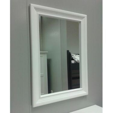 Spiegel 48x67 cm vlak glas profiellijst, 6 kleuren