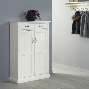 Hal-/schoenenkast Alta, 2 deur, 2 la, H 136 cm