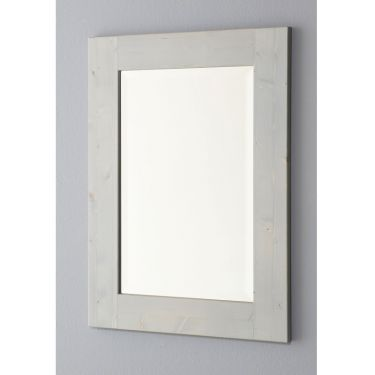 Spiegel 55x75 cm, facet, strakke lijst, 6 kleuren