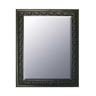 Spiegel 55x75 cm, relief zwart
