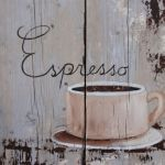 Steigerhouten paneel 60x60 cm, Espresso