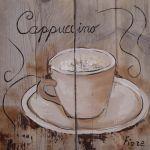 Steigerhouten paneel 60x60 cm, Cappuccino