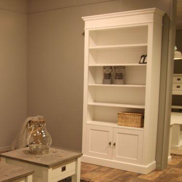 Boekenkast ALTA, 2 deuren H 220, Wit