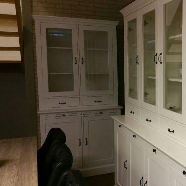 Vitrinekast, buffetkast ALTA, 2-deurs, Snow white