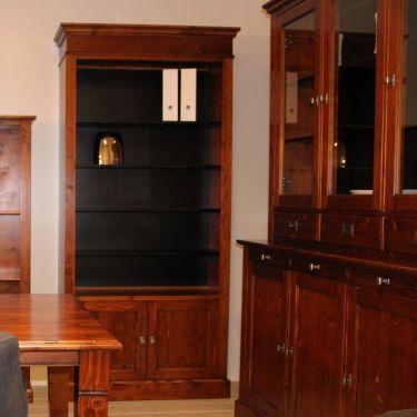 Boekenkast ALTA, met 2 deuren, Old cherry
