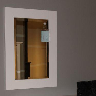 Facetspiegel ALTA, 55x75 cm, Snow white