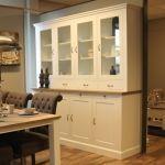 Buffetkast ALTA 4-deurs, Snow white, Eiken blad