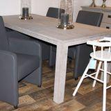Eiken eettafel ALTA, 100x200 cm, Oud wit