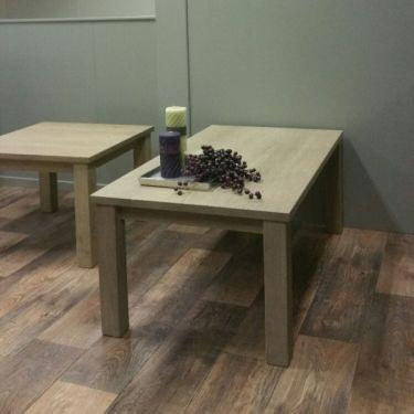Eiken salontafel ALTA, 65x118 cm, Grijs wit