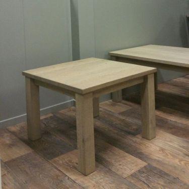 Eiken salontafel ALTA, 65x65 cm, Grijs Wit