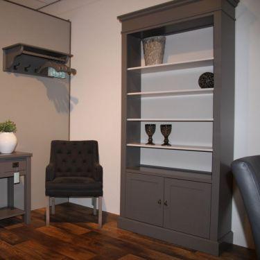Boekenkast ALTA, 2 deuren H 220, Murano grey