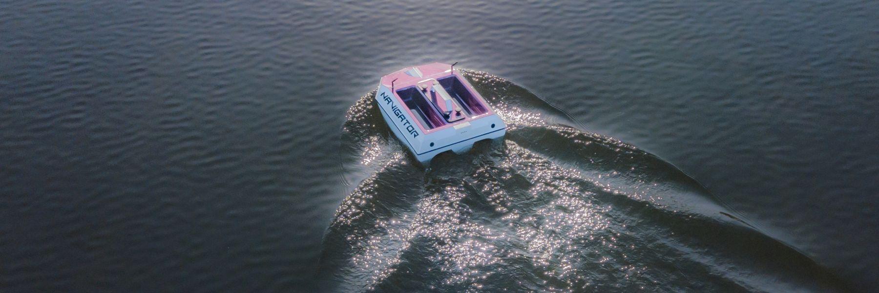 Navigator water van boven