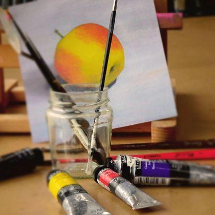 Nat-in-Nat schilderen met olieverf - workshop