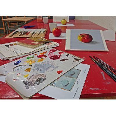 Workshop nat in nat schilderen met olieverf bij Ombers & Okers