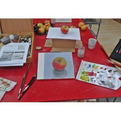 Een duidelijke handleiding helpt je om een goed resultaat te bereiken tijdens de workshop nat in nat schilderen met olieverf
