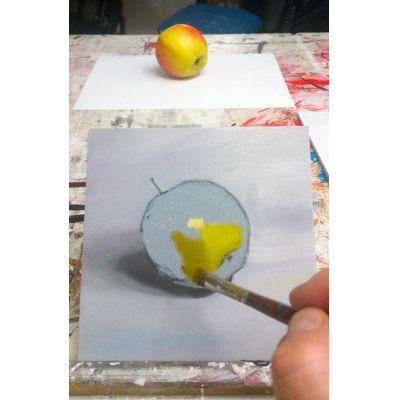 Goed kijken en schilderen wat je ziet. Cursus nat in nat schilderen met olieverf