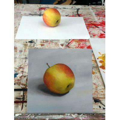 Welke van de 2 is de echte appel? Workshop nat in nat schilderen met olieverf