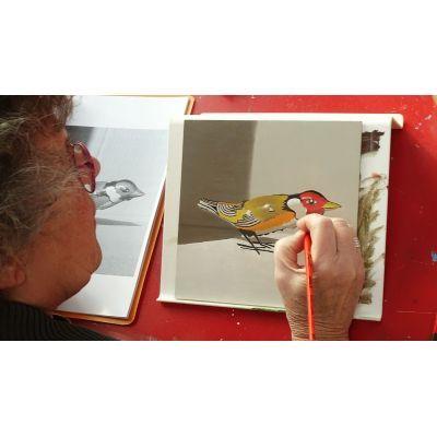 De fijnschilder techniek leent zich bij uitstek voor een realistisch voorstelling. Cursus basis beginselen van het realistisch fijnschilderen schilderen.
