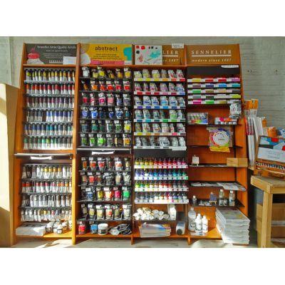 Acrylverf, acrylinkt, 3d acrylliners, acrylmediums, acrylpapier, afsluitbare paletten, et cetera.