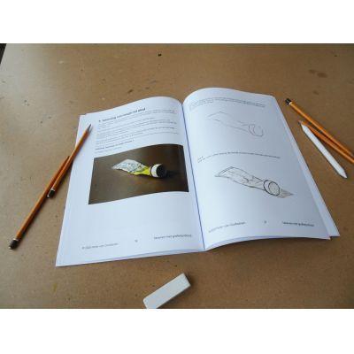 Stap voor stap leer je de hoe je een tekening opbouwt. Cursus basisbeginselen van het tekenen met potlood. Ombers & Okers.