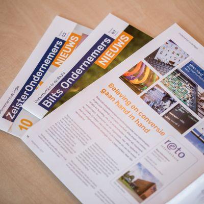 Publicatie in regionale ondernemersbladen