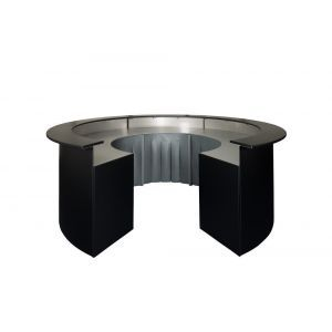 Zwarte ronde bar (zonder tap)