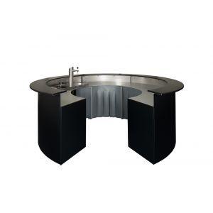 Zwarte ronde bar