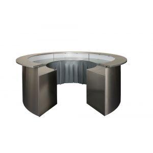 RVS ronde bar (zonder tap)